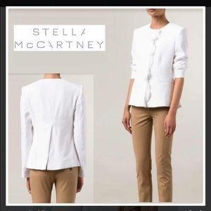 Stella McCartney Silk-Trimmed Blazer Size 6,42